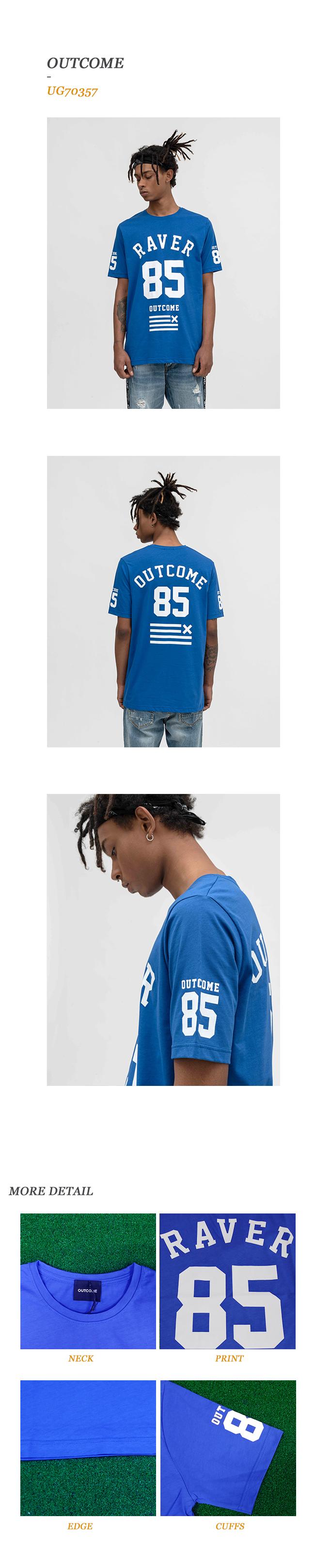 지아니루포(GIANNI LUPO) UG70357 그래피티 반팔 티셔츠(BL)